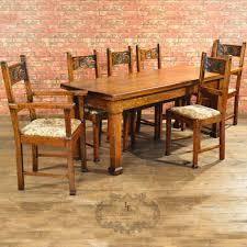 arts u0026 crafts dining table u0026 6 chairs u2013 london fine antiques