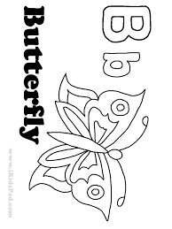 butterfly coloring pages preschool kids coloring