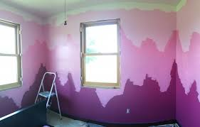 pink ombre walls for my pink art in the attic studio