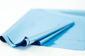 mylar tissue paper light blue mylar 10 sheets metallic sky blue mylar tissue