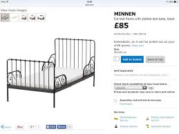 Discontinued Ikea Products List by Ikea Minnen Toddler Bed
