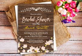 rustic bridal shower invitations 40 bridal shower invitation exles