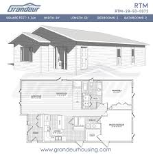 grandeur 8 floor plan rtm 28 50 0072 grandeur housing
