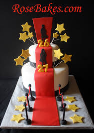a hollywood red carpet cake