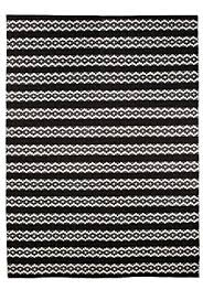 Black White Runner Rug Vallila 140 X 200 Cm 100 Percent Cotton Leopardi Runner Rug Black