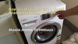 Bosch Laundry Pedestal How To Install And Use A Bosch Avantixx Washing Machine Youtube