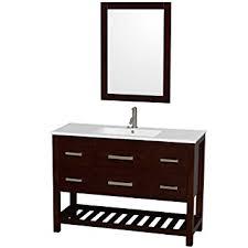 48 Inch Bathroom Vanity White Wyndham Collection Natalie 48 Inch Single Bathroom Vanity In