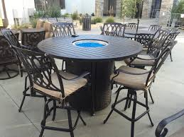 Patio Table With Firepit Patio Set With Firepit Table New San Marcos 7 Bar Height