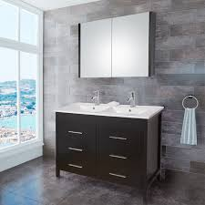 vigo 48 inch maxine double bathroom vanity with medicine cabinet