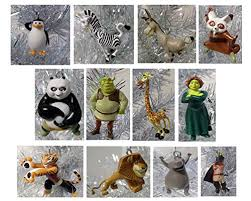 dreamworks 10 tree ornament set featuring