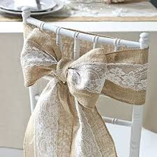 wedding bows for chairs 2016 vintage wedding chair decoration burlap lace ribbon sashes