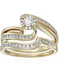 Gold Wedding Ring Sets by Womens Bridal Sets Amazon Com