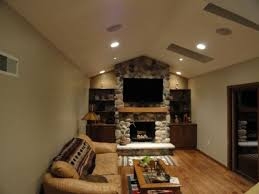 living room with fireplace and tv decoratings small stone modern