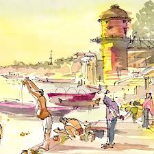 painting the world on site sketches by suhita wanderarti