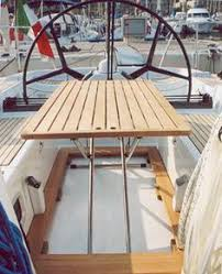 boat tables for cockpit boat cockpit table fold away teak casa mare videos yacht