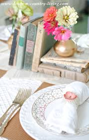 setting the table book book lover s table setting table settings and country living