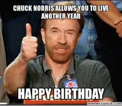 Chuck Norris Birthday Meme - norris allows you to live another year