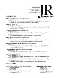 Resume Examples Education Section by Coursework Section Resume