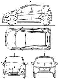 2009 suzuki alto hatchback blueprints free outlines