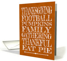 white words on an orange background noting thanksgiving terms card