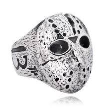 stainless steel mens rings jason voorhees titanium stainless steel men ring 76542