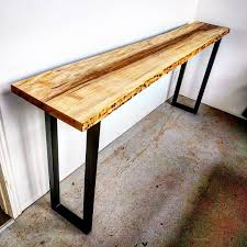 Restoration Hardware Console Table by Live Edge Oak Console With Iron Base Console Tables Sideboards