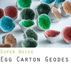 family u0026 craft quick egg carton geodes kids pinterest egg