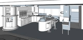 artstation retrofuturistic 1950s kitchen design christina p retrofuturistic 1950s kitchen design google sketchup 3d base