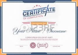 certificates modern and clean color and placement of the sample