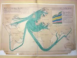 Map Of Britian Minard U0027s Map Of British Coal Exports Cartographia
