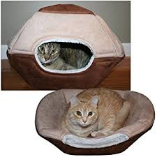 Cats In Dog Beds Amazon Com Pop Up Bungalow Pet Bed 2 In 1 For Cats Or Small