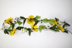 flower garland silk yellow flower garland
