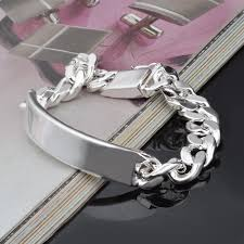 silver plated bracelet chain images 10mm chain bracelets for men silver plated bracelets bangle jpg