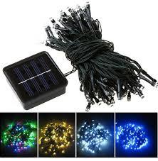 solar led christmas lights outdoor fy 30l sp series 30 led solar string lights solar panel string