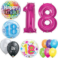 balloons for 18th birthday age 18 happy 18th birthday qualatex balloons helium party