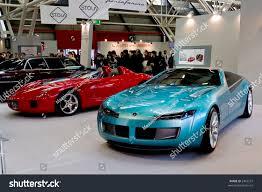 ferrari prototype ferrari rossa bertone prototype motorshow bologna stock photo