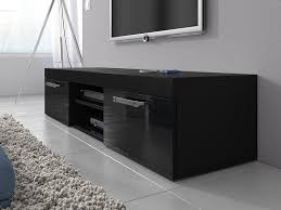 tv unit cabinet stand mambo black matt front black high gloss