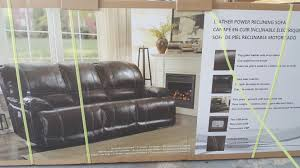 Costco Living Room Brown Leather Chairs Top Grain Leather Power Reclining Sofa 800 Love Seat 700 At