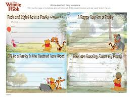 winnie pooh party invitations disney family