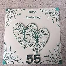 55th wedding anniversary handmade emerald wedding anniversary card happy 55th wedding