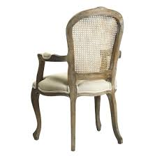 Cane Back Dining Room Chairs Lyon French Country Cane Back Linen Dining Arm Chair Kathy Kuo Home