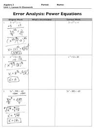 the exponential curve algebra 2 error analysis