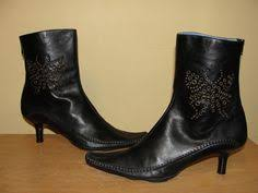 womens black ankle boots size 9 gianni bini womens shoes booties black leather ankle boots