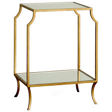 Square Accent Table Luxury Living Room With Gold Chrome Finished Accent Table