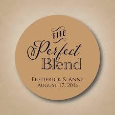 wedding favor labels the blend sticker wedding coffee favor label sticker