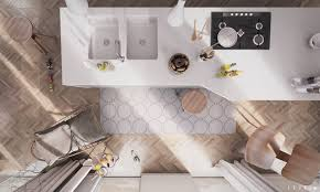 interior design of a kitchen 3 modern homes in many shades of gray