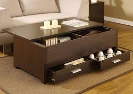 Diy Large Coffee Table by Coffee Tables Simple Espresso Coffee Table With Open Shelf