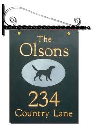 address plaques and numbers wall lawn hanging signs