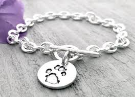 Personalized Paw Print Necklace 8 Best Paw Print Jewelry Images On Pinterest Handmade Bookmarks