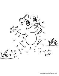 frog dot to dot game printable connect the dots game coloring